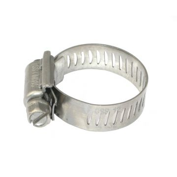 12mm x 14-32mm Full Stainless Steel Hose Clamp - GSS12