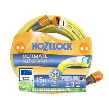 Hozelock Ultimate 15m x 12.5mm 7815 (7815P9130) Yellow Garden Hose
